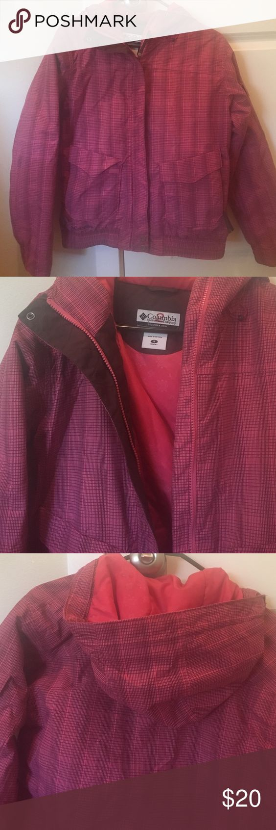 Columbia Sportswear Pink & Brown Winter Jacket Size Small Columbia Sportswear Pink & Brown Winter Jacket. Great condition. Columbia Jackets & Coats