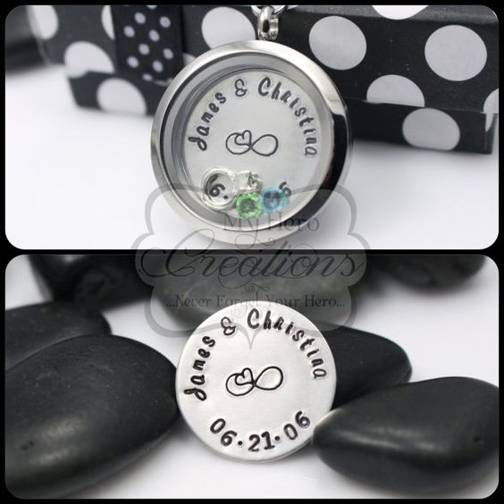 HandStamped Anniversary 30mm Stainless Steel by MyHeroCreations, $31.00