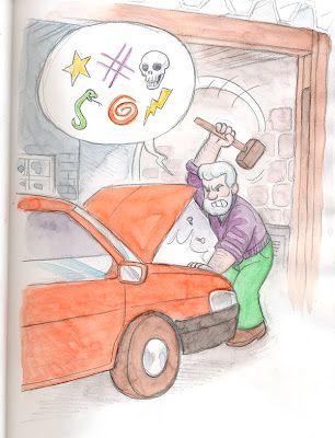 Jean Okada: Seu Raul conserta um carro