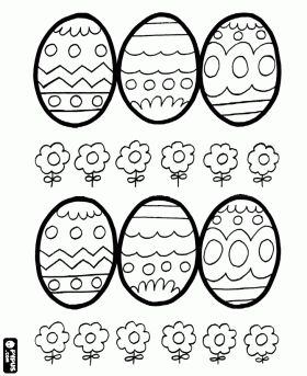 desenho de Ovos para colorir