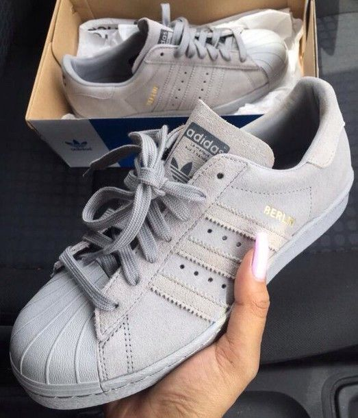 shoes adidas grey nice nike shoes style fashion superstar