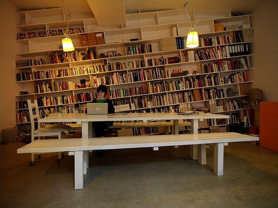 Slanted Bookcases
