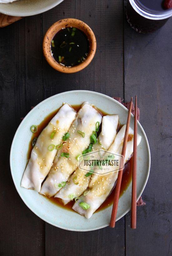 Cheung Fun Steamed Rice Noodle Rolls Makanan Pendamping Makanan Pedas Resep Makanan