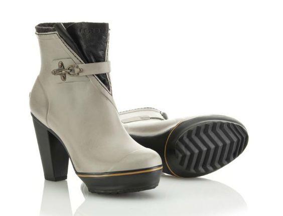"""Sorel """"Medina"""" rain heel, $149; sorel.com How to do rain boots right! Loverly!"""