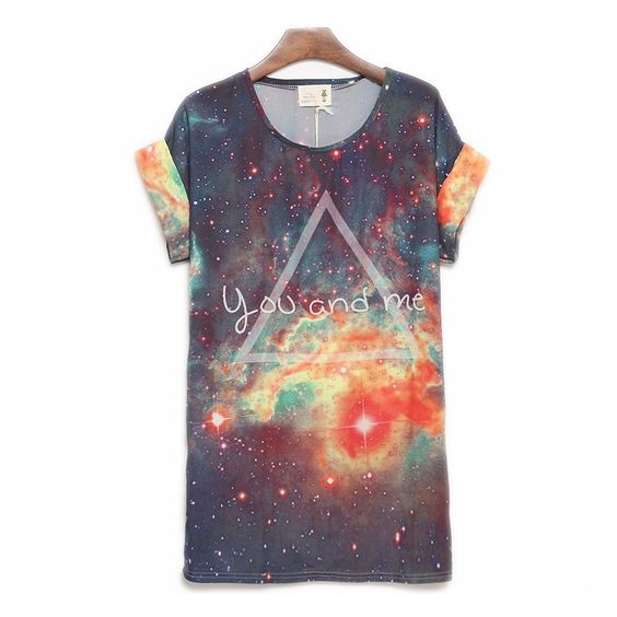 acolline's save of Cool You And Me Galaxy Loose Batwing T-shirt on Wanelo