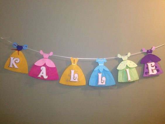 Princess name banner by CrazyGlazeyCreatives on Etsy