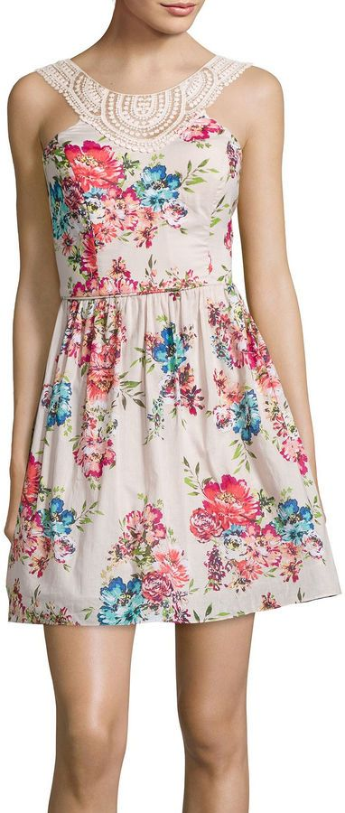 City Triangles Sleeveless Floral Poplin Dress. Go and hunt this little beauty down by clicking the image:D