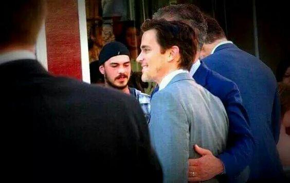 Matt and Simon in London.  Cute