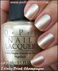"OPI ""I only drink champagne"" LOVE!"