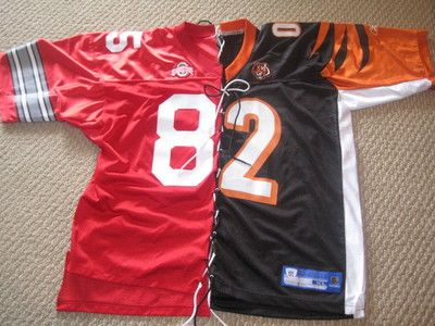 Ohio State Buckeyes/Cincinnati Bengals Mike Nugent football jersey ONE-OF-A-KIND