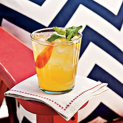 Recipe: Bourbon-Peach Cocktail | SouthernLiving.com | #4thofJuly