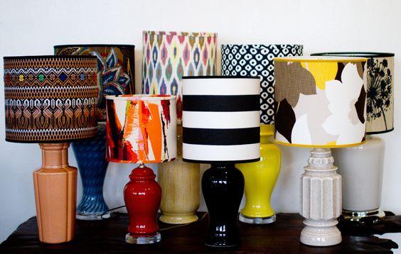 DIY: lampshades