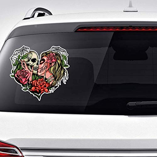 Amazon Com Kissing Skulls Xlarge Sticker Decal Bumper Laptop 12 X 9 5 Handmade In 2020 Waterproof Stickers Bumpers Vinyl Sticker