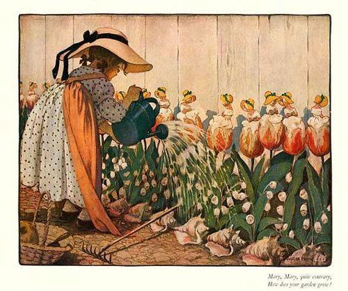 1914 Jessie Wilcox Smith -Mary, Mary Quite…