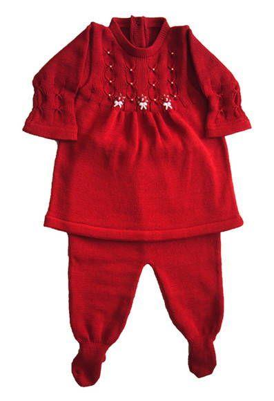 Conjunto Vermelho Vestido + Calça | Bebemvestido | 253064 - Elo7