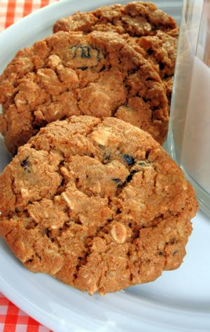 This low fat oatmeal raisin cookie is crispy on the outside, chewy on the inside and delicious.