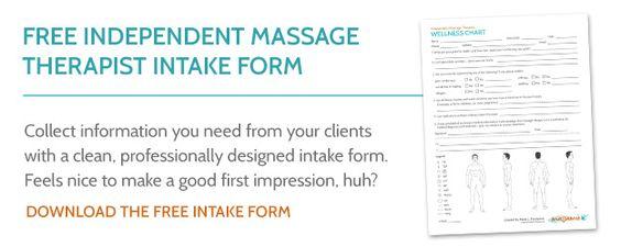 Free Massage Therapist Intake Form Massamio  Massage Therapy