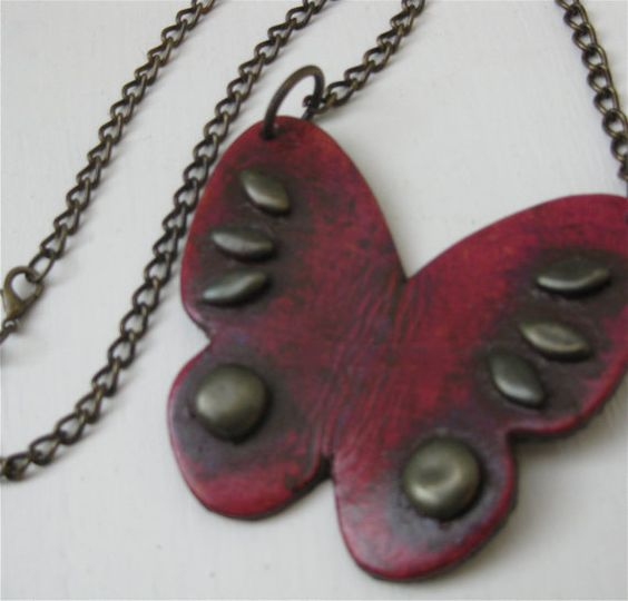 Hey, I found this really awesome Etsy listing at https://www.etsy.com/listing/86505477/sale-pinky-raspberry-red-butterfly