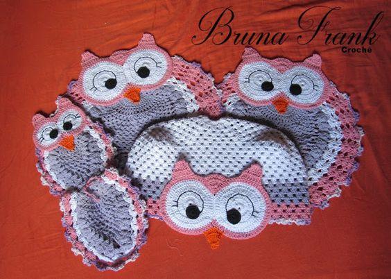 Bruna Frank: 10 corujas em crochê inspiração