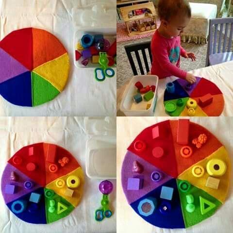 Farben Lernen Montessori Material Selber Machen Farben Lernen