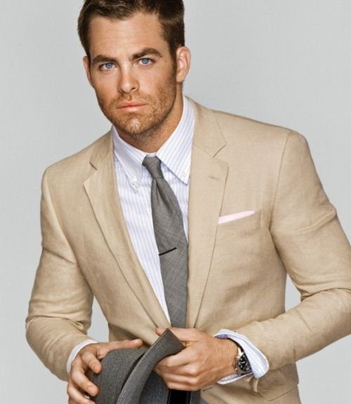 Men's style: beige suit | Wedding | Pinterest | A well, Beige