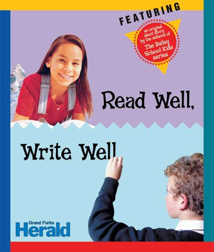 Read Well, Write Well is a newspapers in education tab filled with lots of activities