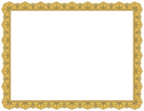 A fancy gold border for creating award certificates. Free ...