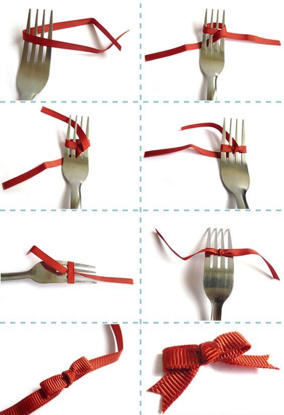 Картинки по запросу как сделать бант из декоративной ленты