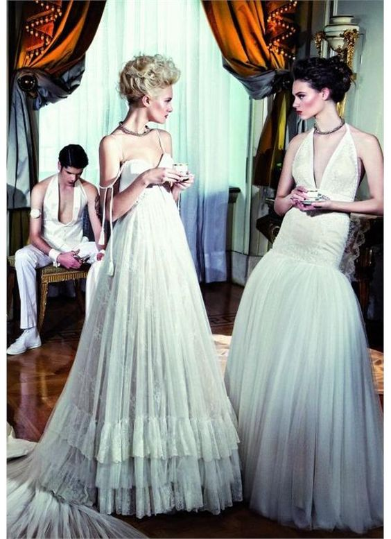 www.gamos.gr Great Gatsby wedding style, by Konstantinos Melis by Laskos,#weddingstyle #weddingdress #νυφικά www.gamos.gr #gamos: