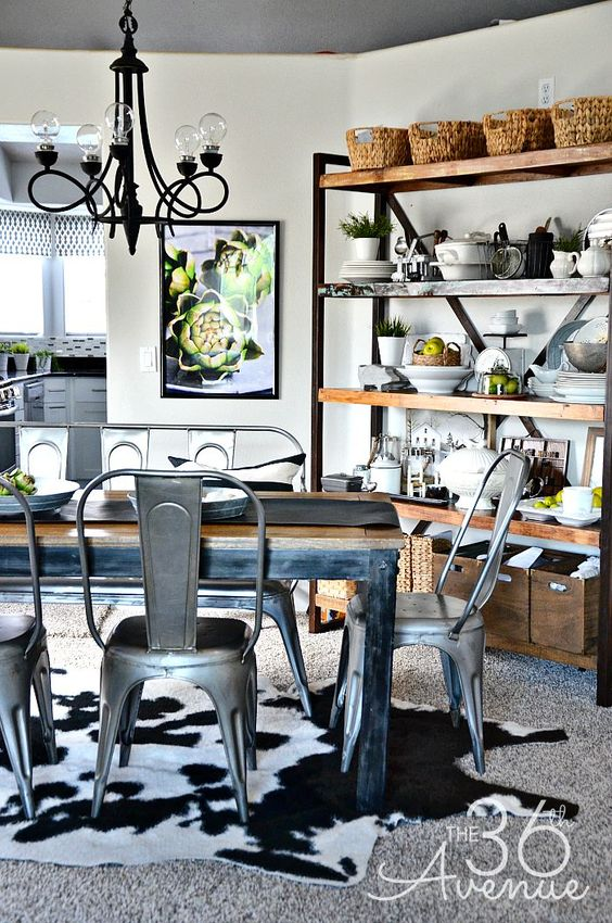 Industrial dining rooms industrial dining and room decor for Dining room ideas industrial