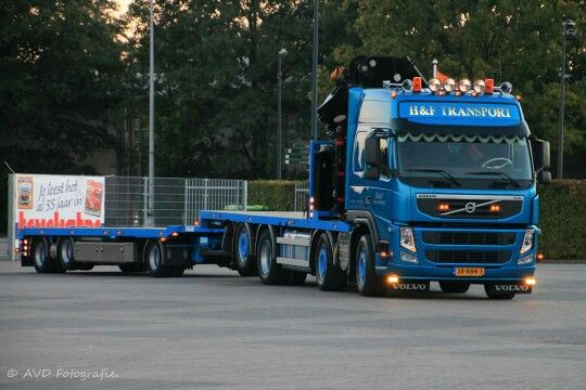 Volvo FH combinatie met kran.  H&F. TRANSPORT