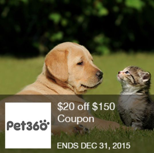 20 Off 150 At Pet360 A Great Way To Save On The Next Purchase For Your Best Friend This Pet360 Coupon Can Be Found At I M Store Coupons Coupons Natural Pet
