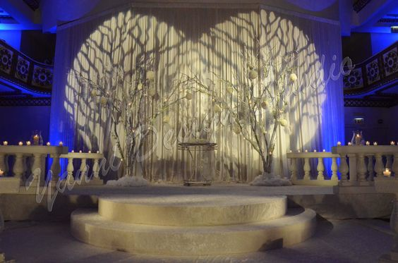 Stage decoration treedesign backdrop decor hotel for Backdrop decoration for church