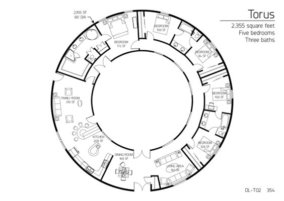 Round Homes Floor Plans: Cob House In The Round