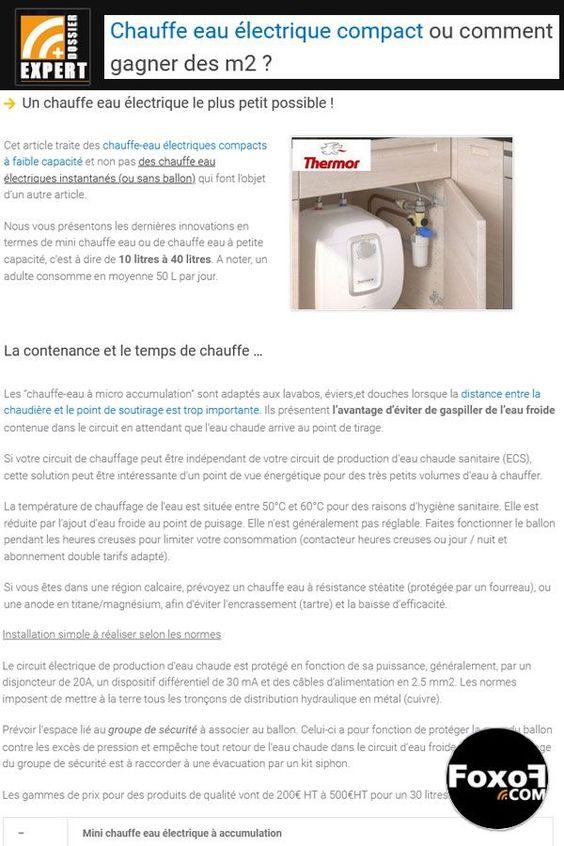 Le Chauffe Eau Electrique Compact Malin Pour Gagner Des M2