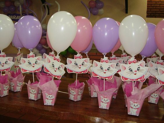 Centros De Mesa Para Fiestas | ... ayuda con ideas de centros de mesa para fiesta de la gatita marie: