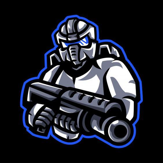 Robotic mascot logo Premium Vector | Free Vector #Freepik #vector #freebackground #freelogo #freevintage #freepeople
