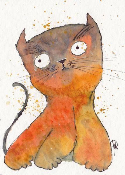 kleine Katze - Original von Knopfinskys kleine Geschenke auf DaWanda.com