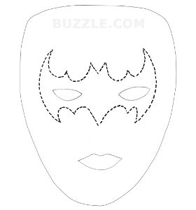 A list of scary and cool halloween face painting ideas for for Halloween face mask templates