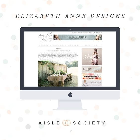 Elizabeth Anne Designs embraces the classic timeless elegant wedding. Filled to the brim with real weddings styled shoots and stunning photography the @elizabethannedesigns feed is sure to provide swoon-worthy inspiration! #aislesociety #aislesocietydebut #weddingblogsunite by aislesociety