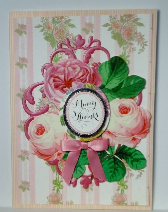 Many Thanks Thank You Greeting Card Handmade Anna Griffin
