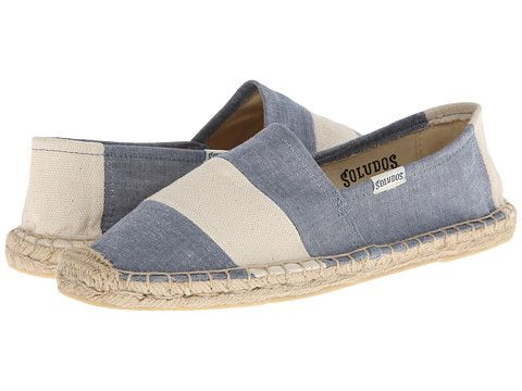 Soludos Original Barca Sailor Stripe Chambray Natural - Zappos.com Free Shipping BOTH Ways