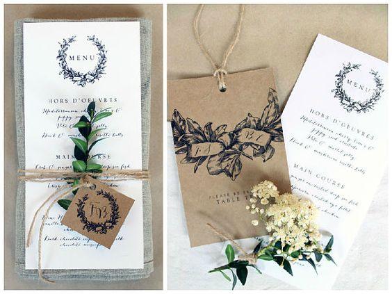 Ideas para un #menú de #boda original y bonito