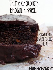 Triple Chocolate Brownie Bread | http://mummymade.it/2015/11/triple-chocolate-brownie-bread.html