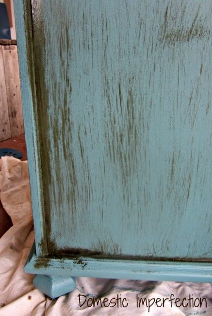 The Dirty Cowboy Treatment (distressing furniture with stain): sometimes i don't like working with sandpaper