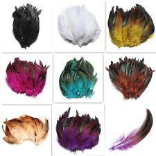 """100X Plume De Coq Naturel Bricolage Bijoux Décoration Chapeau Feather 6-8"""" DIY"""
