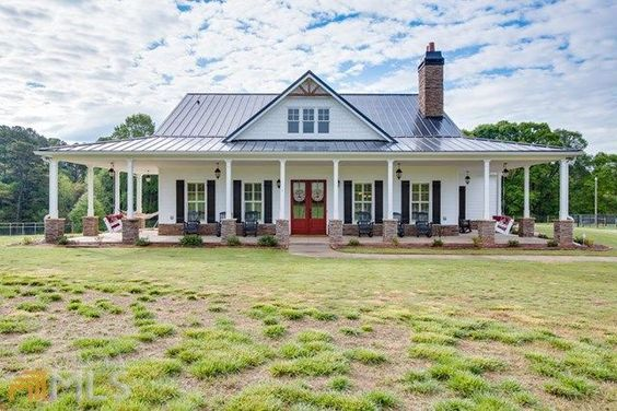 Ranch Style Farmhouse With Wrap Around Porch