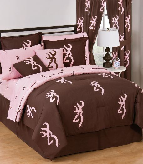browning pink brown bed set this is my bed set my bedroom theme baby stuff pinterest