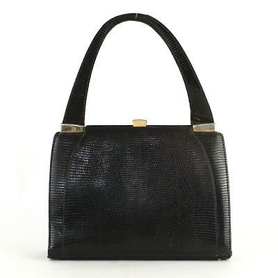 True vintage 1960s 70s black real #leather handbag tote bag #purse #retro cool,  View more on the LINK: http://www.zeppy.io/product/gb/2/322081632096/