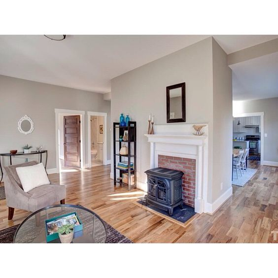 Love the fireplace in this 1920s #durhamnc home!  #realestate #realtor #bullcity #durham